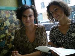 The curators: Mihaela Varzari & Dominique BB