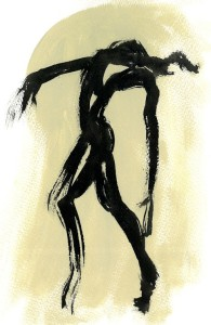 Dance | acrylic & ink on paper