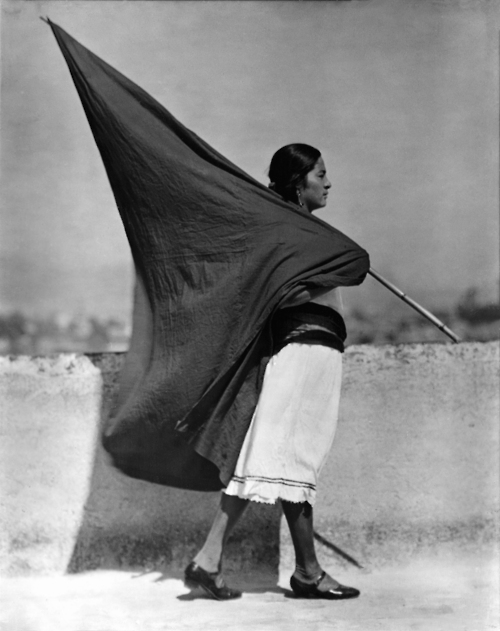 'Woman with Flag' by Tina Modotti